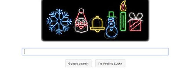 Nuovo Doodle: Google si accende per Natale