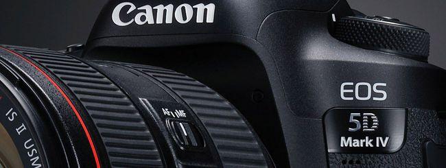 Un aggiornamento firmware per Canon EOS 5D Mark IV