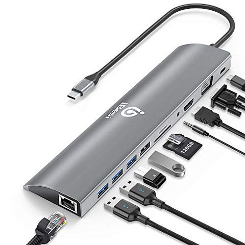 iBesi USB C Hub 11 in 1, USB C Adattatore Tipo C con Ethernet