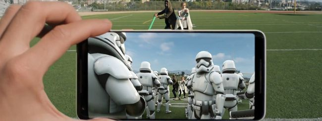 Gli adesivi AR di Star Wars su Pixel 2 XL
