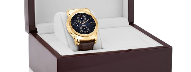 LG Watch Urbane Luxe, smartwatch in oro a 23 carati