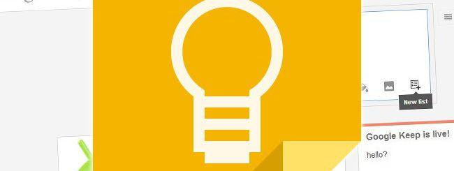 Google Keep, avvistato un nuovo servizio di bigG