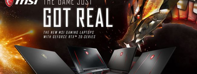 CES 2019, notebook MSI con NVIDIA GeForce RTX