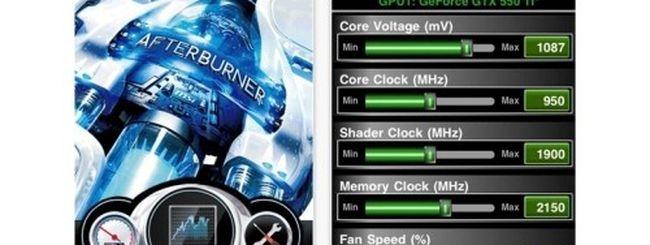 MSI Afterburner: overclock della GPU con iPhone e iPad
