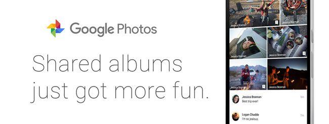 Google Foto: album condivisi più social e smart