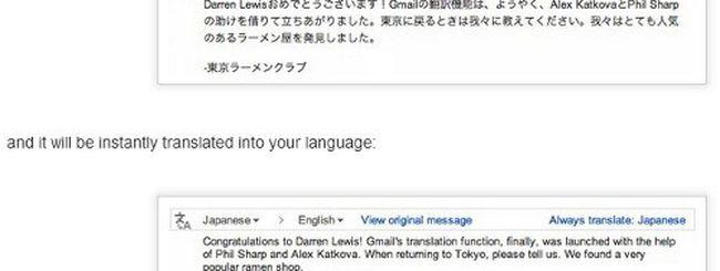 Gmail: traduzione automatica con Google Translate