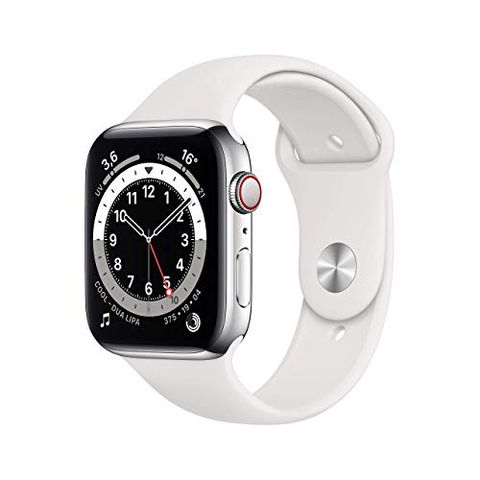 Apple Watch Series 6 (GPS + Cellular, 44 mm) Cassa in acciaio inossidabile color argentobianco
