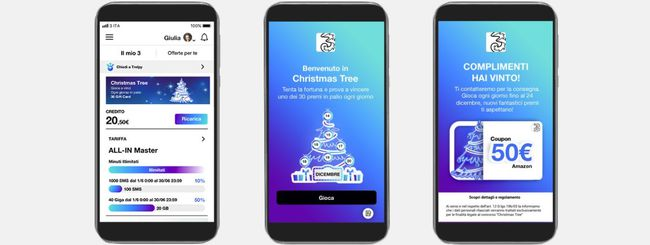 Natale 2018, 3 Italia lancia Christmas Tree