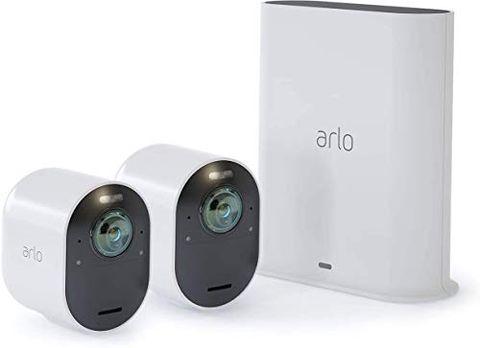 Arlo Ultra VMS5240 Sistema di Videosorveglianza Wi-Fi con 2 Telecamere di Sicurezza 4K