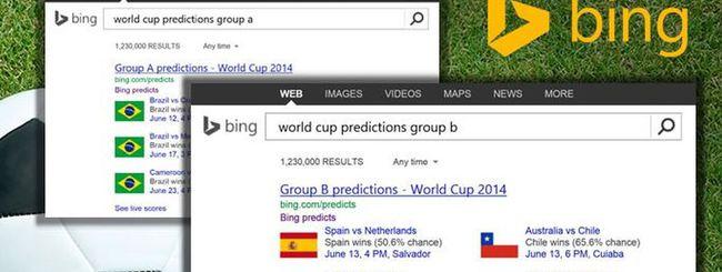 Brasile 2014: Bing prevede i risultati