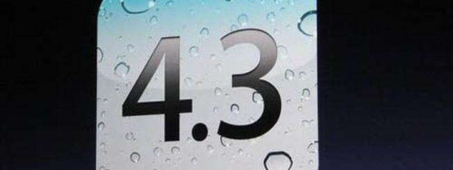 iOS 4.3, FaceTime, iMovie e Garage Band per iPad