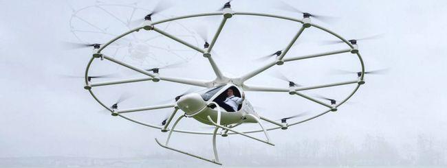Volocopter di e-volo spicca il volo con pilota