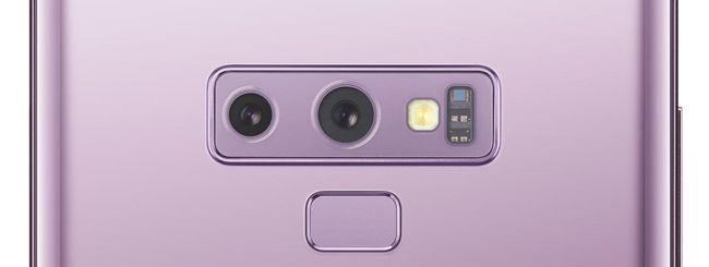 Samsung Galaxy Note 9, fotocamera intelligente