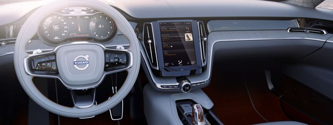 Volvo mostra il nuovo sistema di controllo in-car