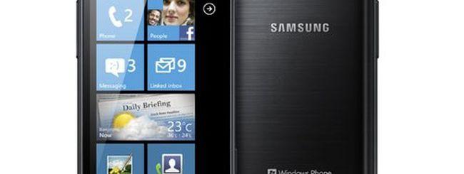 Samsung Omnia W, Windows Phone 7.5 arriva in Italia
