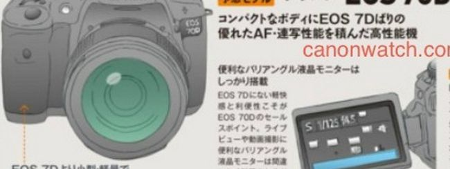 Canon EOS 3D e 70D, specifiche in anteprima
