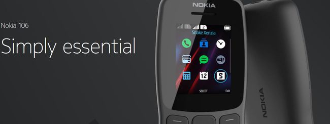 Nokia 106, feature phone essenziale