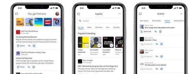 Google Podcasts sbarca su iOS, redesign su Android