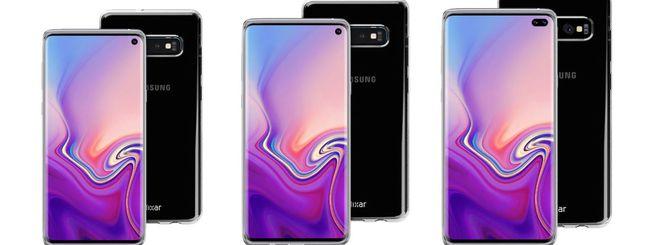 Samsung Galaxy S10, nuovi render di tre modelli