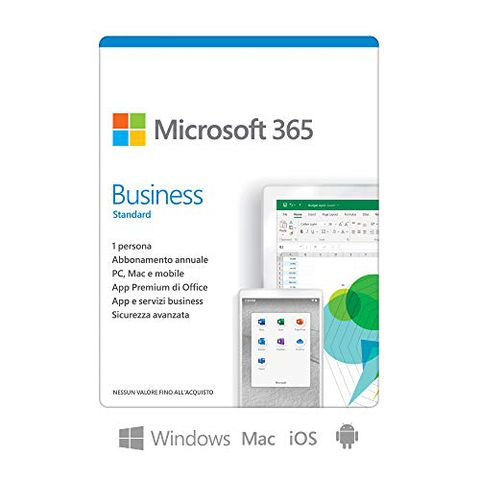 Microsoft 365 Business (1 persona, fino a 5 PC o Mac)