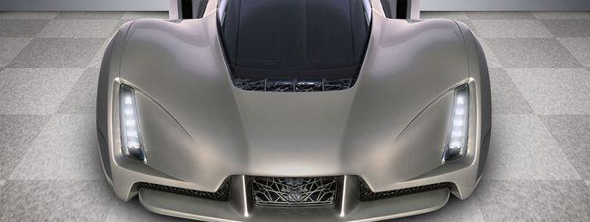 Blade, la supercar creata con le stampanti 3D
