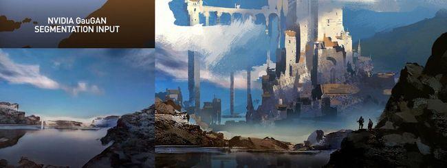 Quel paesaggio è stato creato dall'IA (di Nvidia)