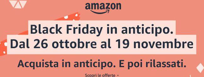 Amazon anticipa il Black Friday: offerte fino al 19 novembre