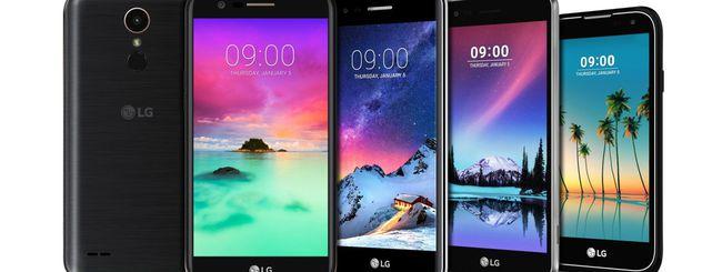 LG annuncia Stylus 3 e quattro smartphone serie K