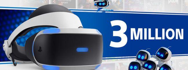 PlayStation VR a quota 3 milioni di unità vendute