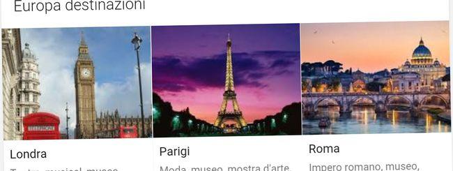 Destinazioni: le vacanze si pianificano su Google