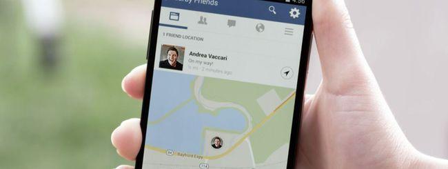 Facebook, novità Nearby Friends