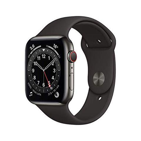 Apple Watch Series 6 (GPS + Cellular, 44 mm) Cassa in acciaio inossidabile color grafite (Nero)