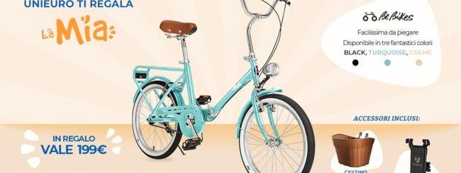 Unieuro regala una bicicletta pieghevole