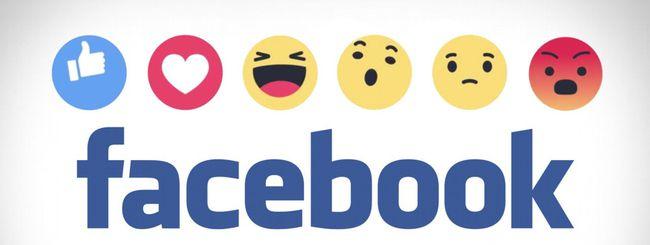 Facebook, stop alle reazioni a tema