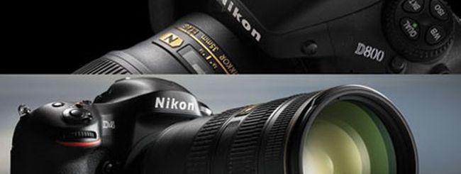 Nikon D800 e Nikon D4, prezzi e uscita in Italia