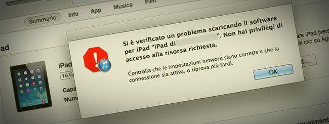 Errore iOS 7