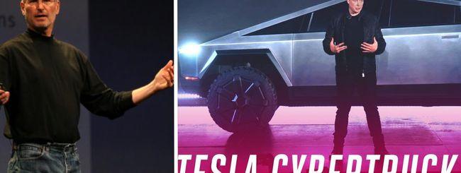 Elon Musk si ispira a Steve Jobs al lancio del Tesla Cybertruck