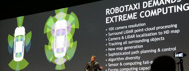 NVIDIA Drive PX Pegasus, potente IA per robotaxi