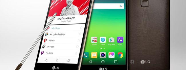 LG Stylus 2, primo smartphone con DAB+