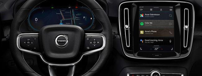 Volvo XC40, auto elettrica con cuore Android