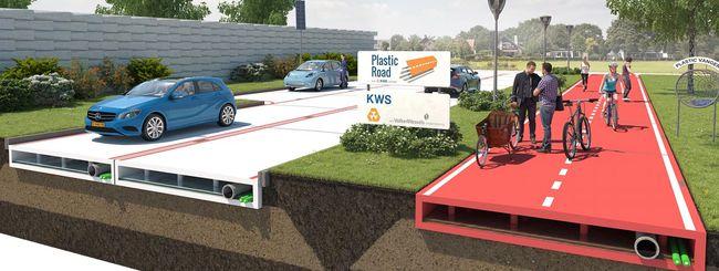 Una strada di plastica riciclata per l'Olanda