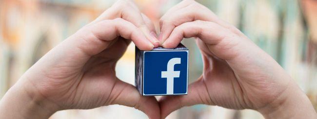 Tanti baci su Facebook