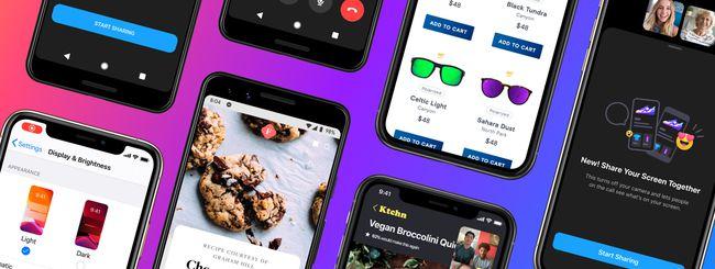 Messenger, lo schermo si condivide anche su iOS e Android