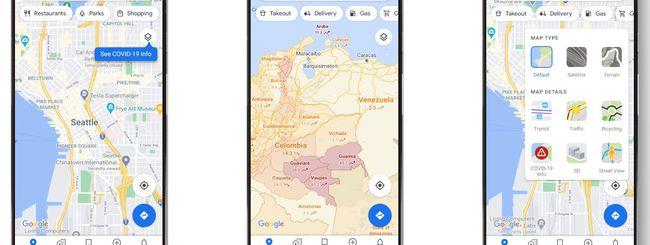 Google aggiorna la funzione Maps dedicata al Covid-19