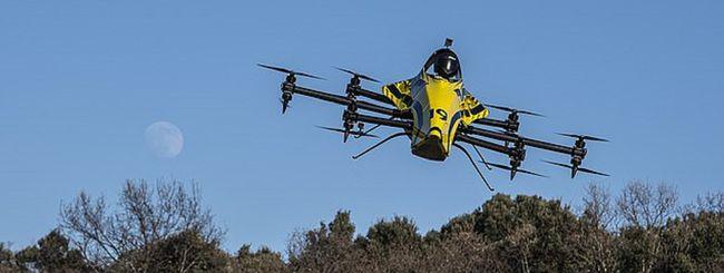 Big Drone, il primo con umano a bordo