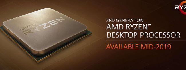 AMD sfida Intel con i processori Ryzen a 7 nm