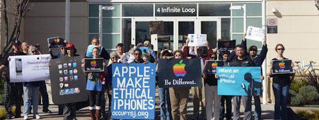 Foxconn, proteste a Cupertino