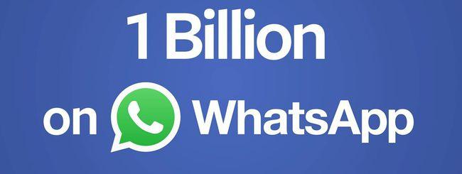 Un miliardo di persone, tutte su WhatsApp