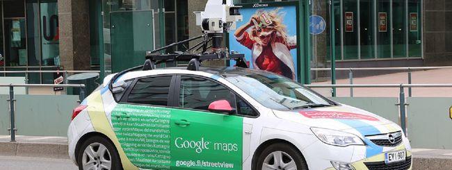 Google Car per monitorare la qualità dell'aria