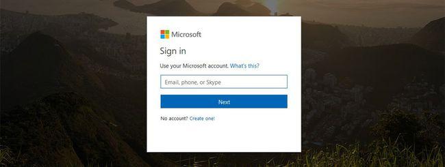 Microsoft testa una nuova schermata di login